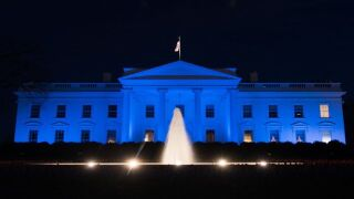 White House turns blue for World Autism Awareness Day