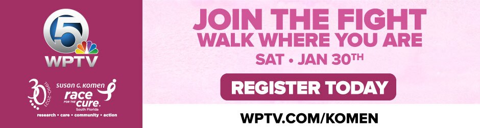 'Join The Fight Walk Where You Are' Susan G. Komen Race for the Cure header graphic