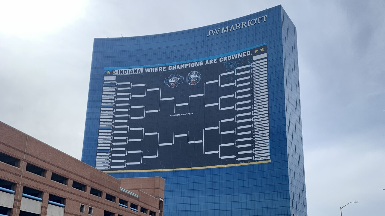 NCAA Tournament bracket in Indianapolis