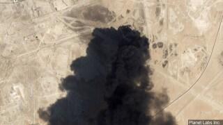 Saudi Oil refinery strike satellite