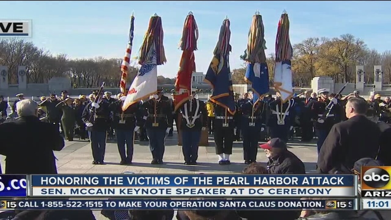 Ducey in Hawaii for Pearl Harbor events