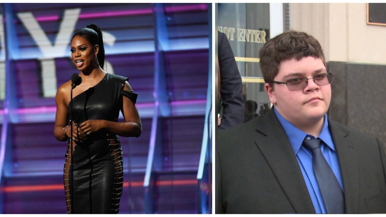 Laverne Cox shouts out transgender teen Gavin Grimm at the Grammys