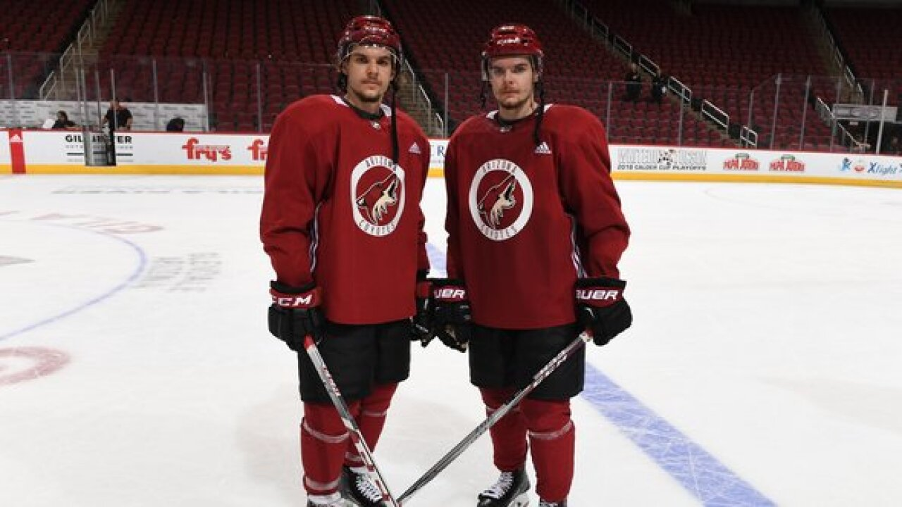 Roadrunners sign Klima twins to one-year contracts