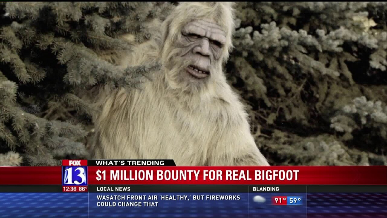 Group offering $1 million bounty for realBigfoot