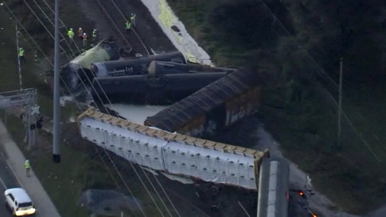 Hazmat situation after train derails in Lakeland