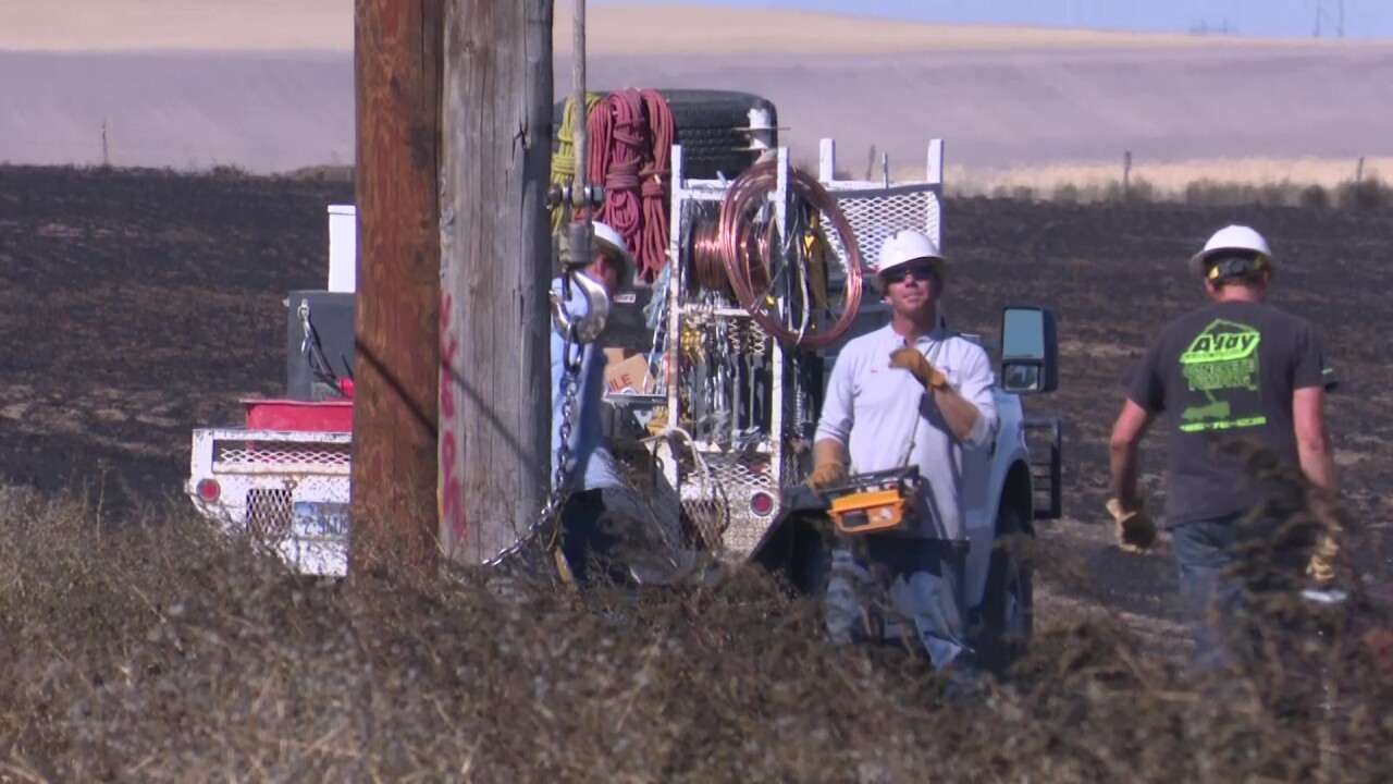 NorthWestern Energy restores power after fire damages utility lines