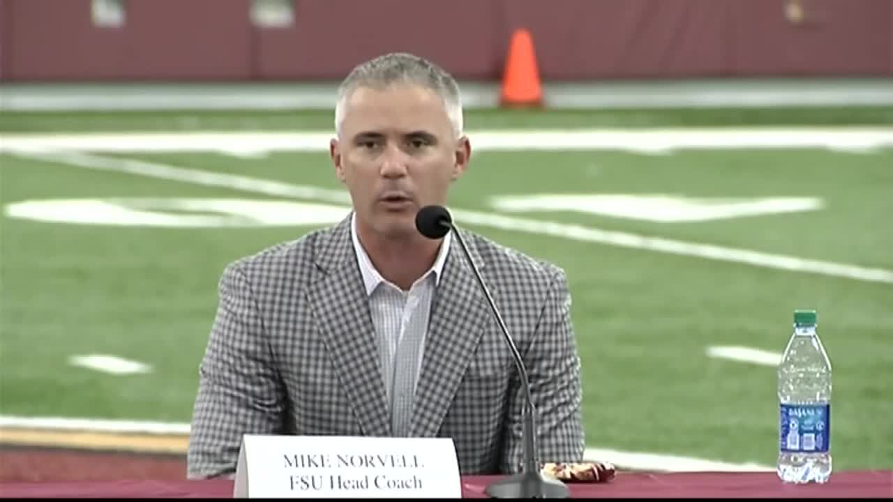 Florida State Seminoles head coach Mike Norvell says his team is ready to play football, Aug. 11, 2020