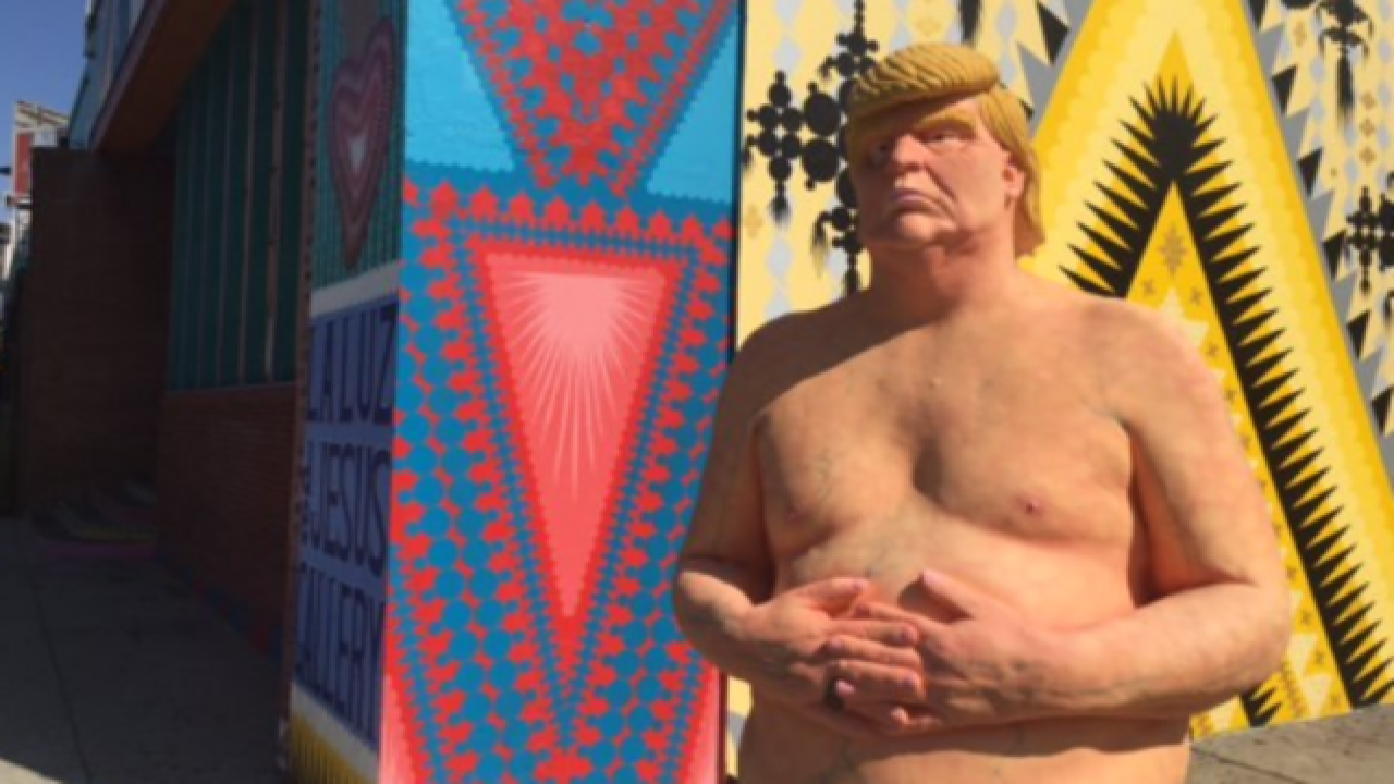 Naked Trump statues pop up across the country