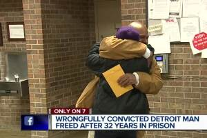 Detroit man released from prison after spending 32 years behind bars for a murder he did not commit