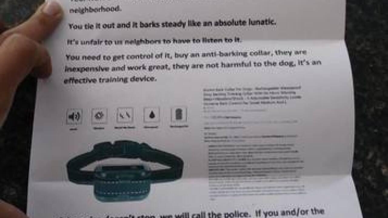 Neighbor threatens to poison Tosa pet