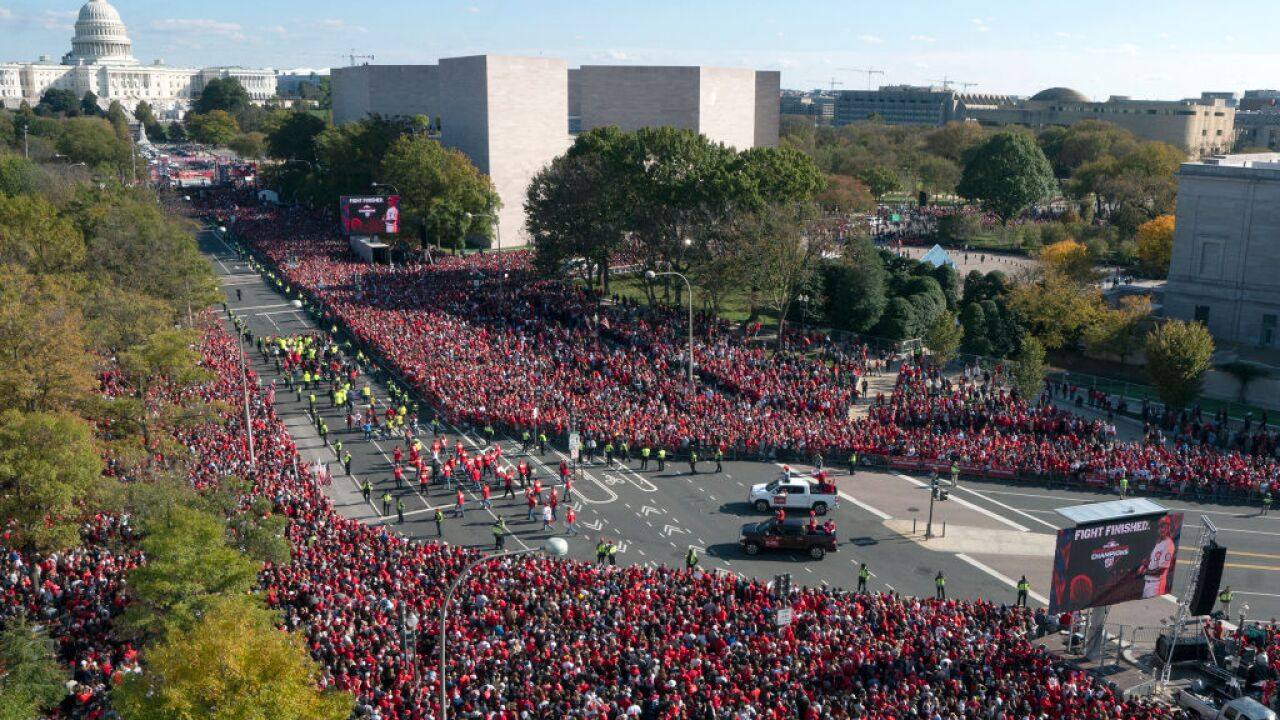 DC gives Nationals victory parade after team's first World Series championship