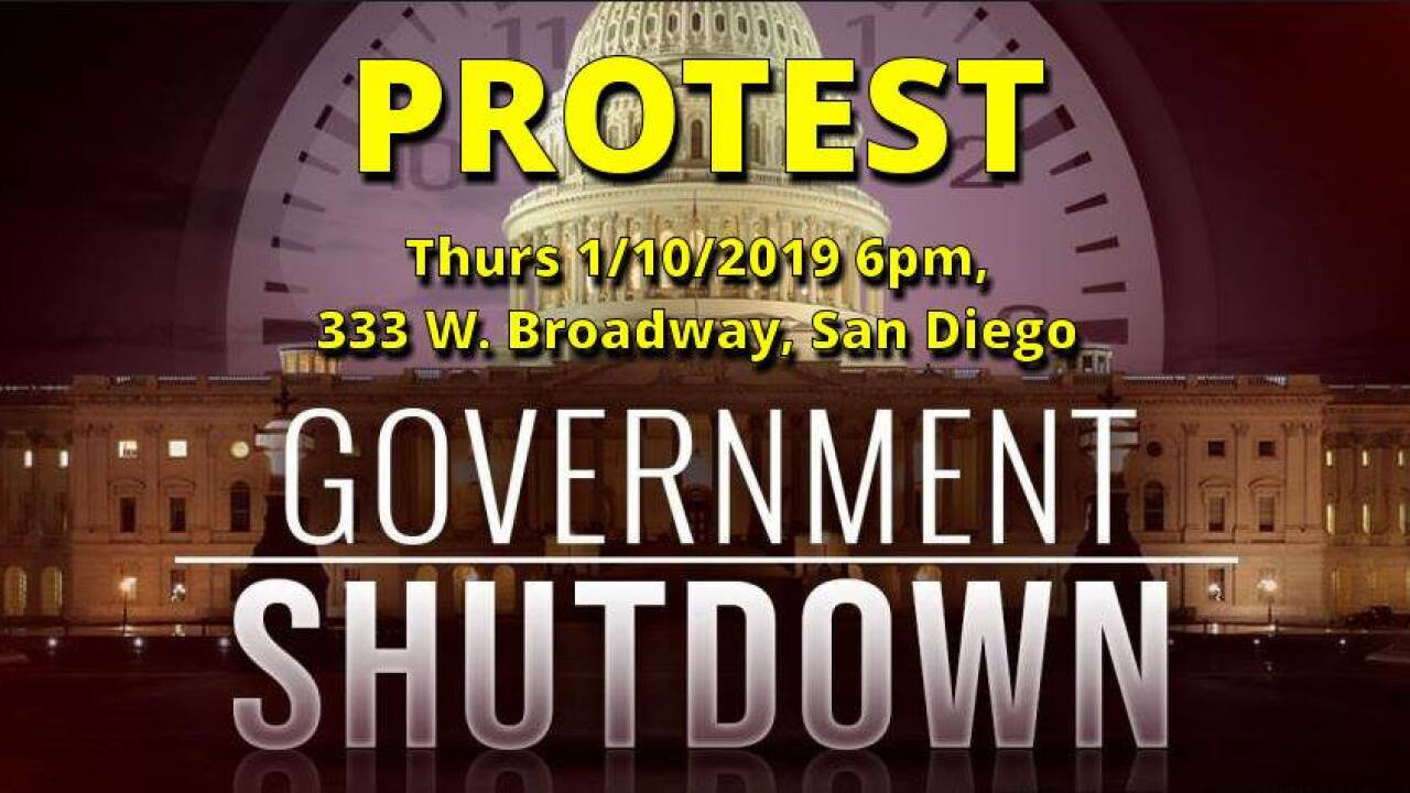 Citizens Oversight group protest over government shutdown