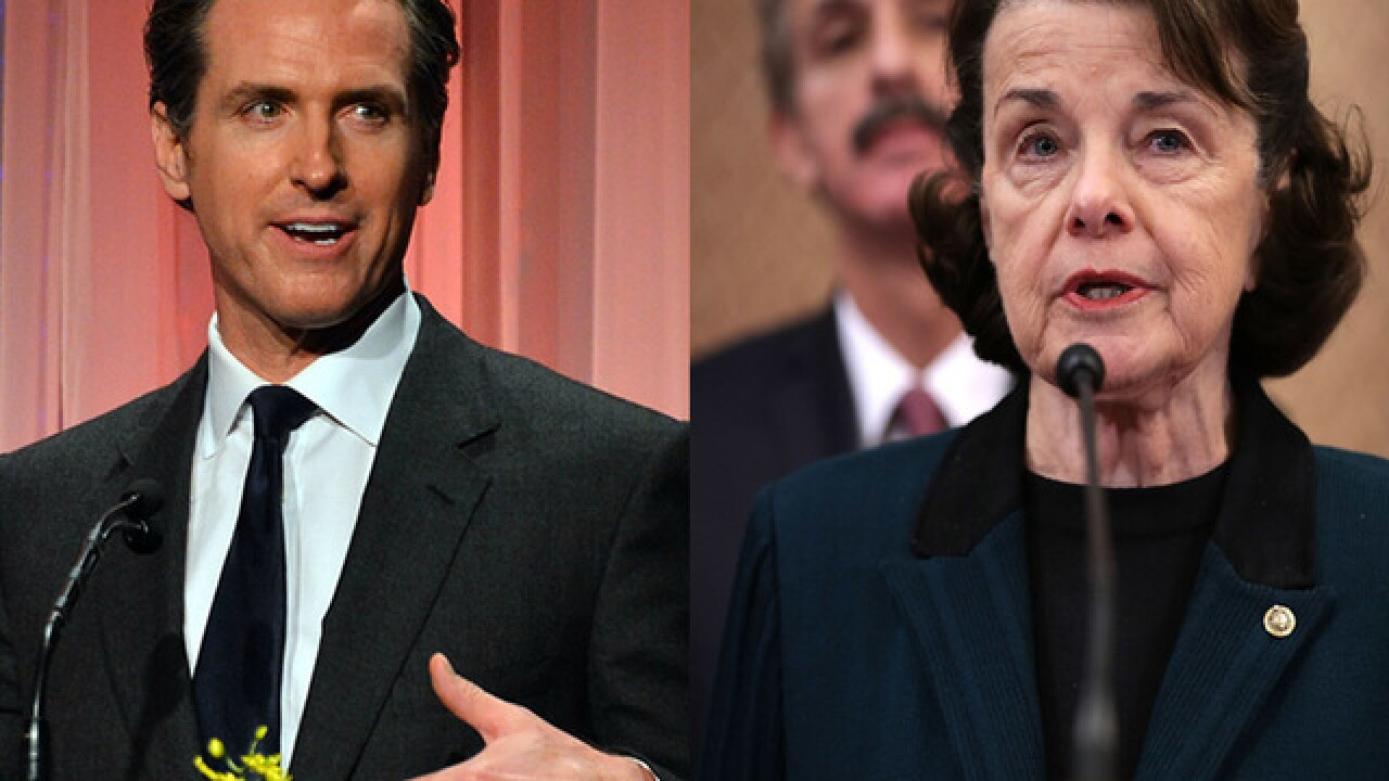 Poll: Newsom leads governor's race, Feinstein ahead in US Senate race as California primary looms