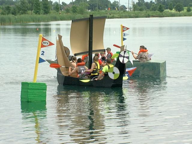 West Chester's annual Cardboard Boat Regatta