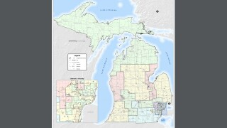 Here's a look at Michigan's gerrymandered congressional districts