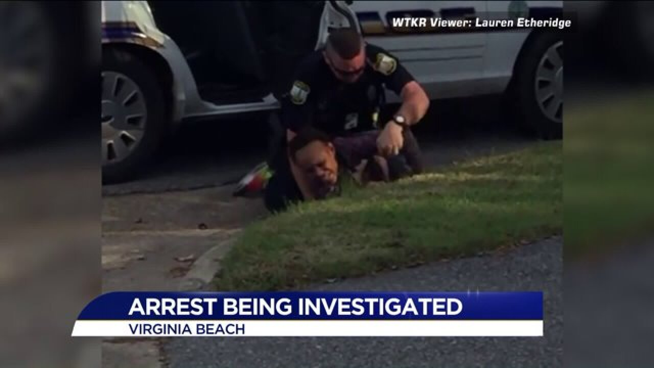 Virginia Beach Police reviewing video of woman's arrest after citizen postsfootage