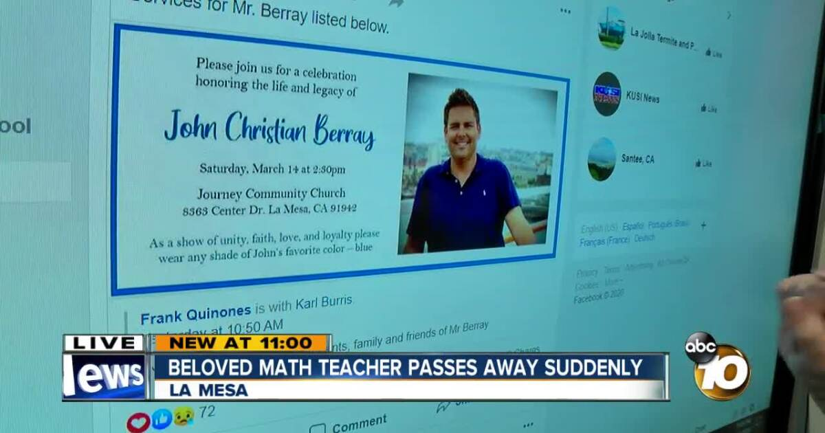 Community, students mourn death of beloved Santee teacher