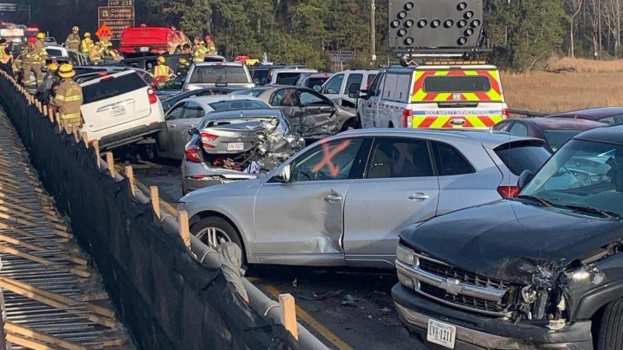 75 vehicles involved in I-64 crash that injured 51 people