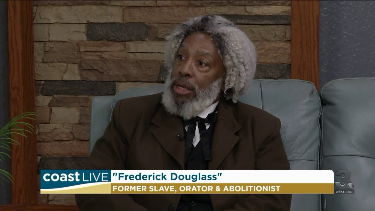 A local historian brings the story of Frederick Douglass to life on Coast Live