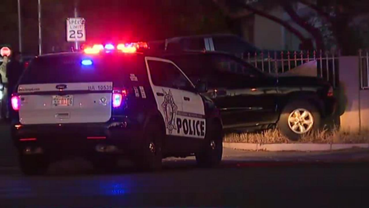 Las Vegas cop shoots at suspect during pursuit