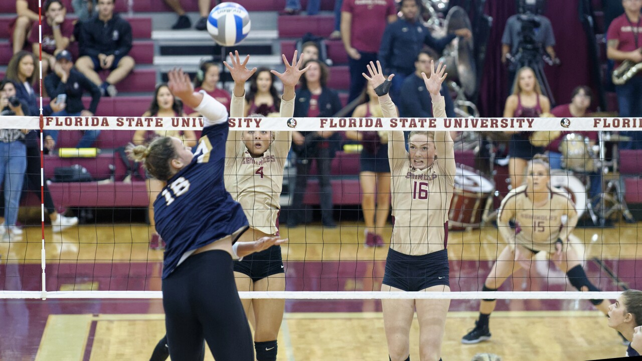 Fsu Volleyball Closes Weekend With Win Over Louisville