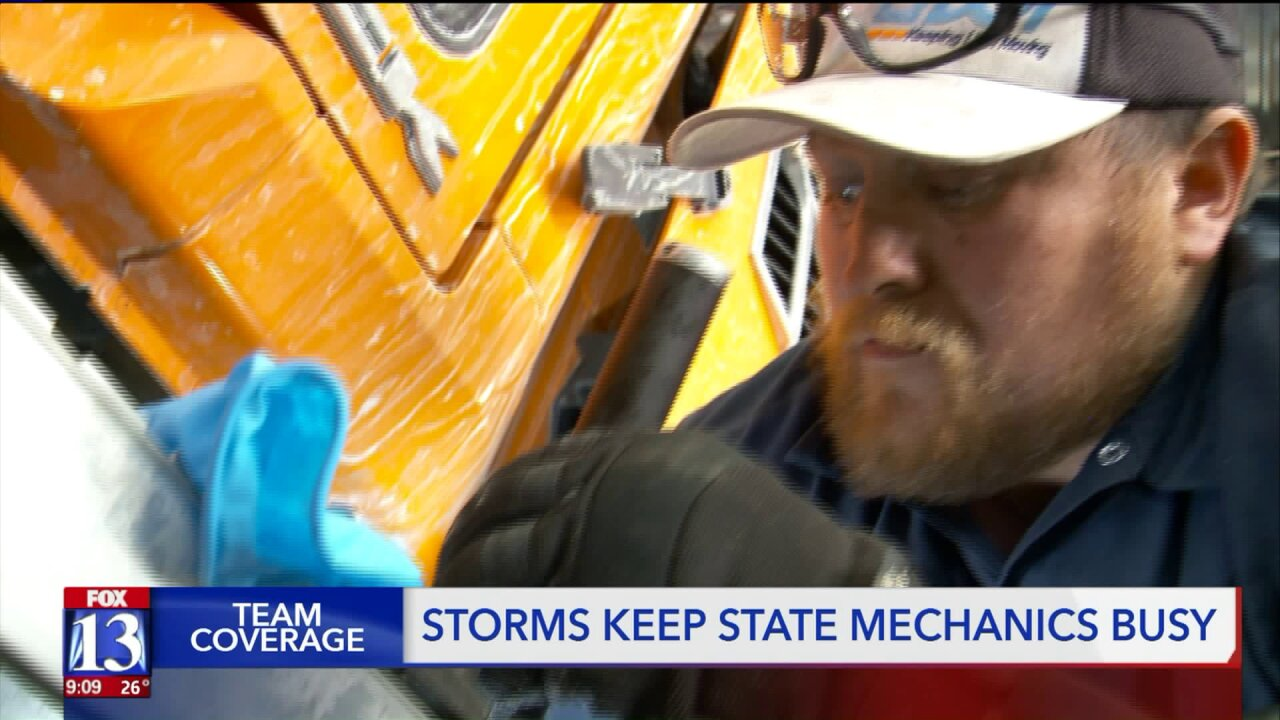Mechanics working overtime to keep UDOT plows on the road during snowyseason