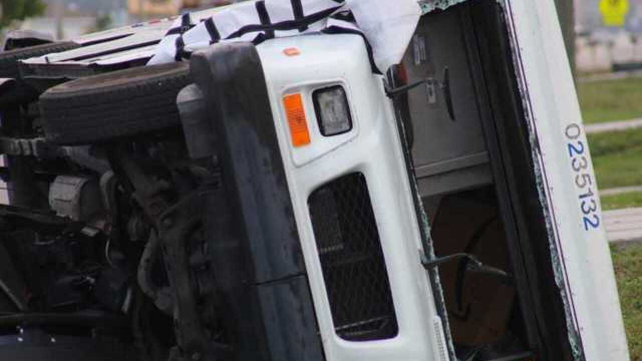Postal truck overturns in Cape Coral crash