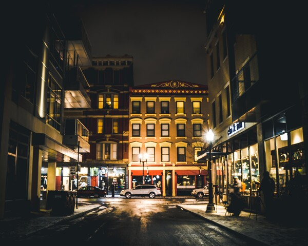 Cincygram catches the snow-covered scenes in Over-the-Rhine