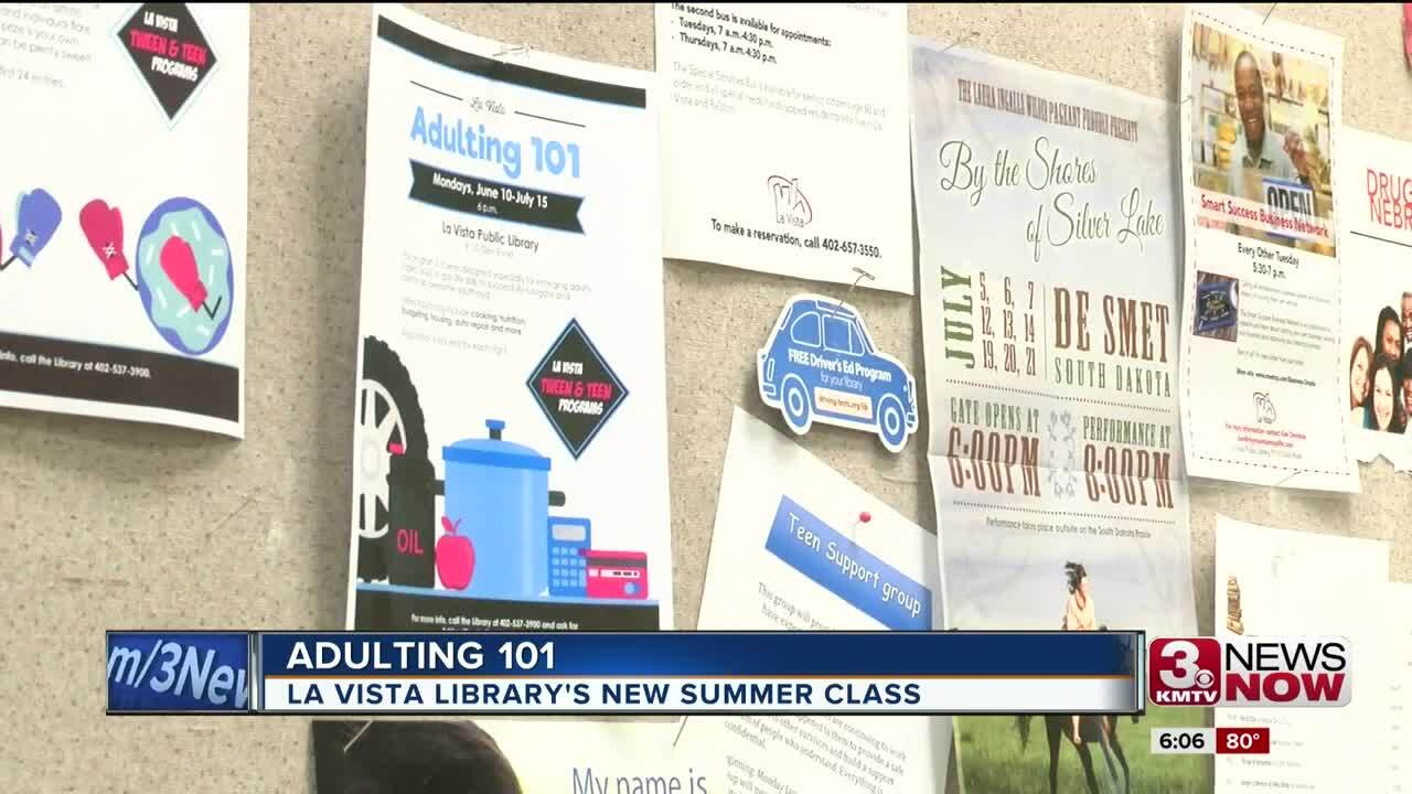 Adulting 101 class at La Vista Public Library