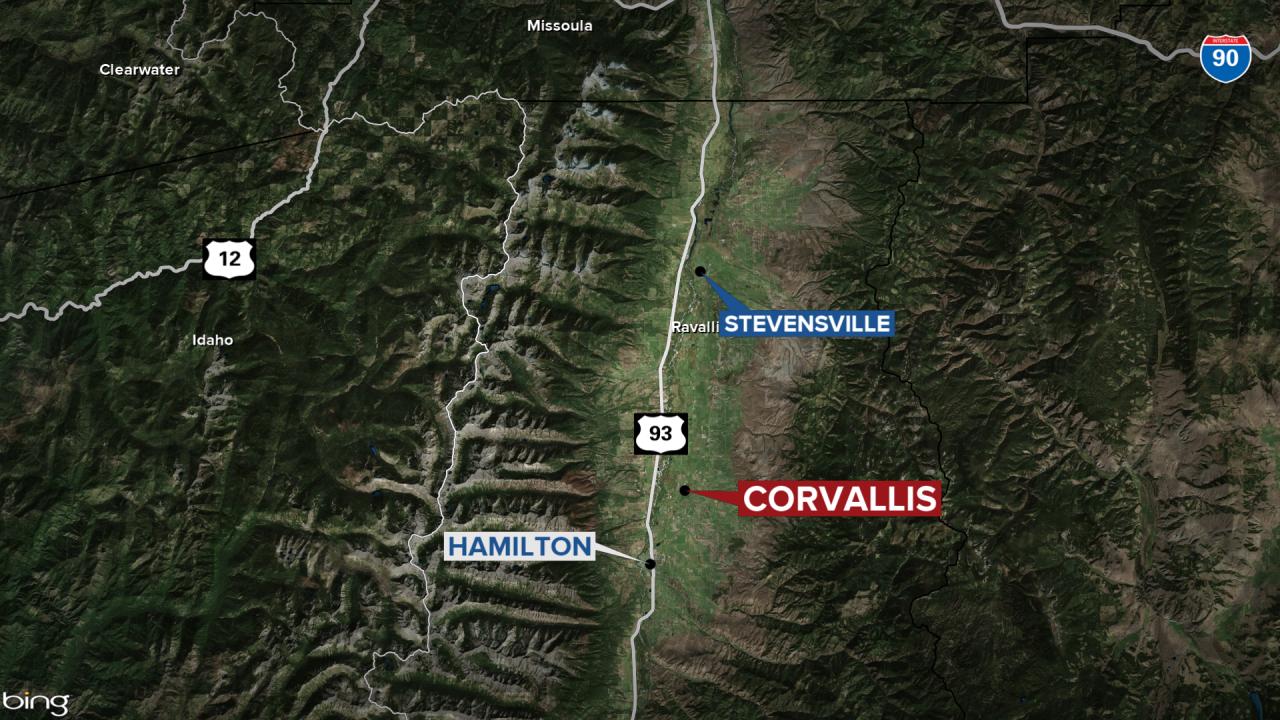 Corvallis Standoff Map