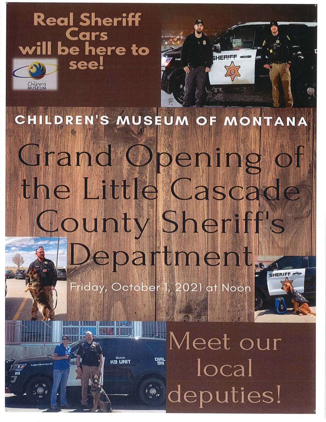 """""""Little Cascade County Sheriff's Department"""" at the Children's Museum of Montana"""