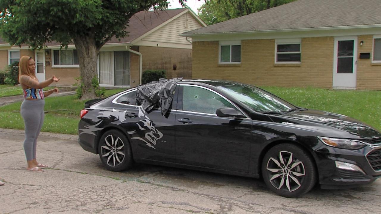 car shot out