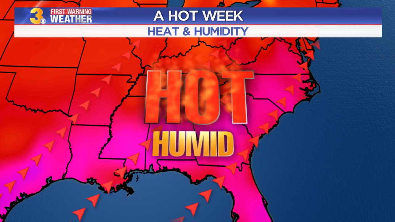 Maddie's First Warning Forecast: A hot and humid week, low rain chances