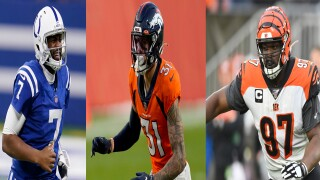 Jacoby Brissett, Justin Simmons, Geno Atkins, 2020 Walter Payton NFL Man of the Year Award nominees
