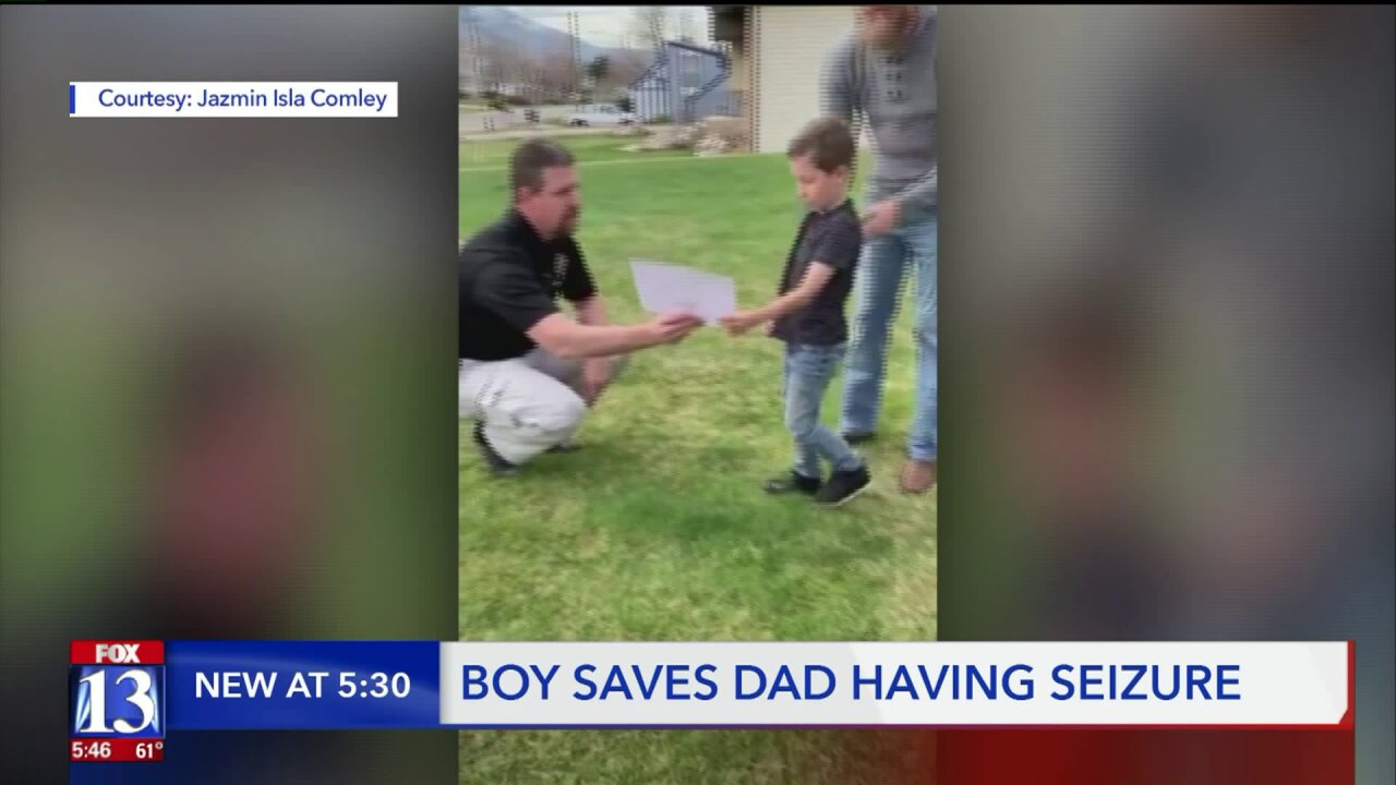 7-year-old saves father after serious seizure