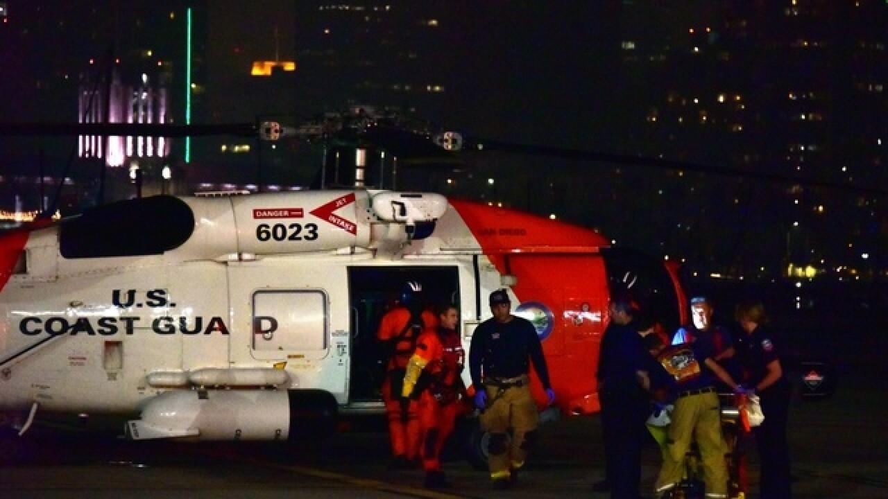 1 dead, 17 rescued, 2 hurt in mega yacht, fishing boat crash off San Diego's coast