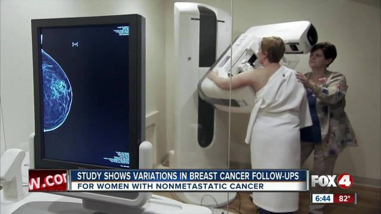 Study shows breast cancer follow-up variations