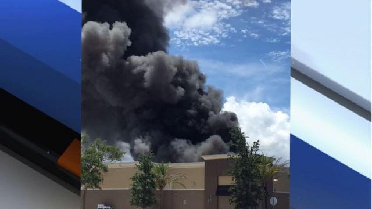 Walmart off U.S. 19 in Clearwater on fire