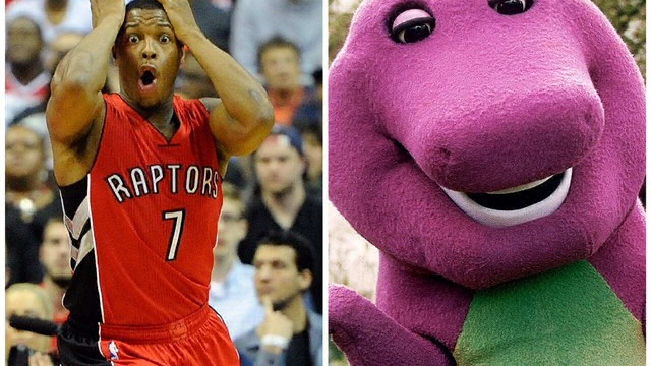 47841d119ac Milwaukee Bucks troll Toronto Raptors by playing 'Barney' theme song during  player introductions