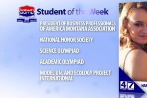 Student of the Week: Hannah Harshbarger