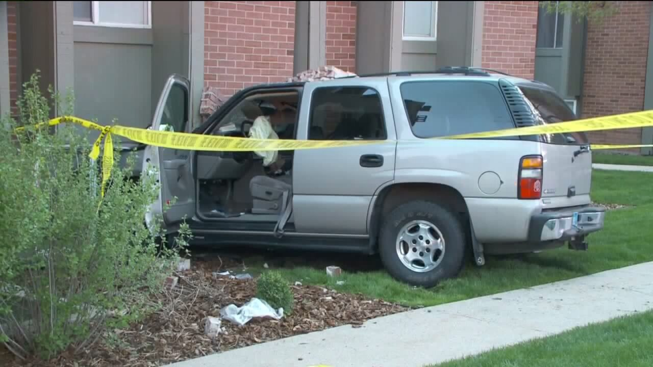 Vehicle crashes into apartment complex on Foothill Drive