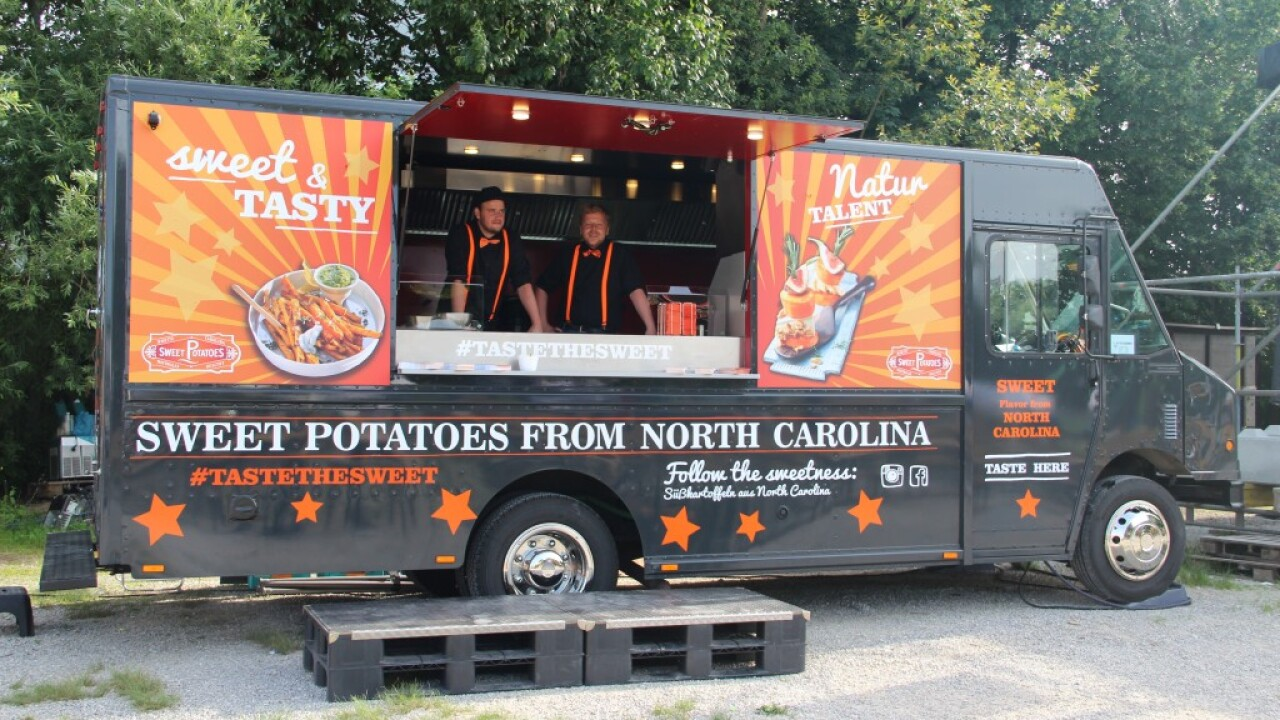 N.C. sweet potato food truck sells U.S. produce across Germany