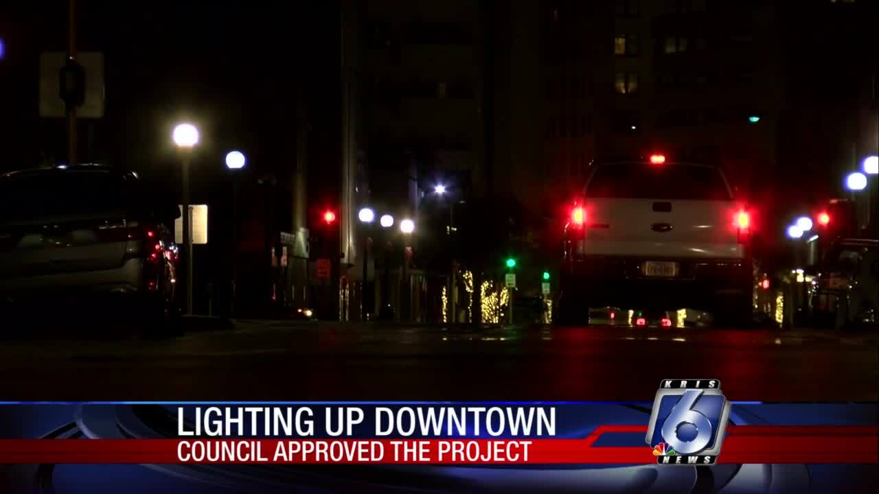 Downtown lighting to improve amid service agreement with firm