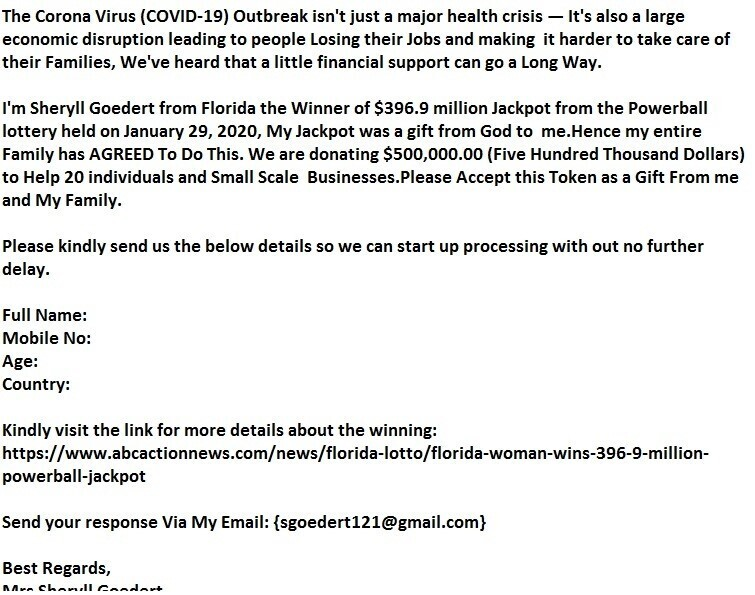 Powerball jackpot winner files lawsuit against online scammers who used her name to steal during pandemic
