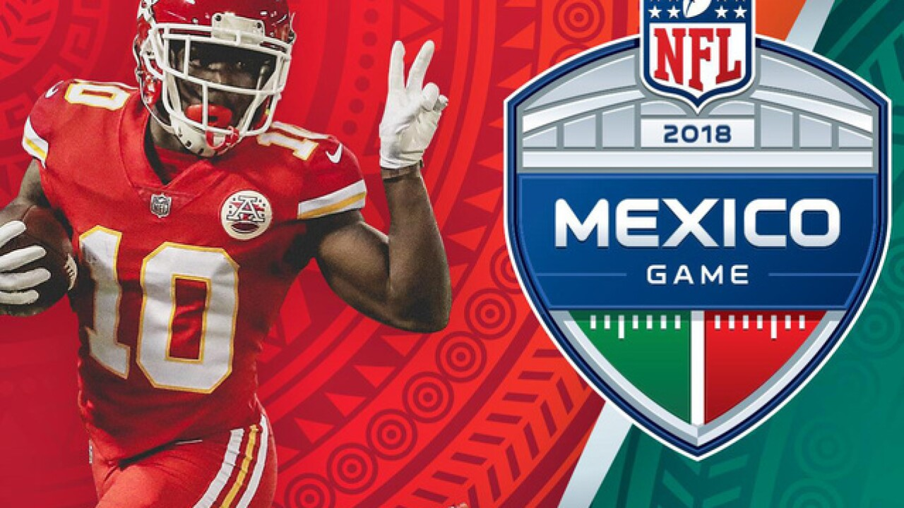 Chiefs to play Rams in Mexico City in 2018