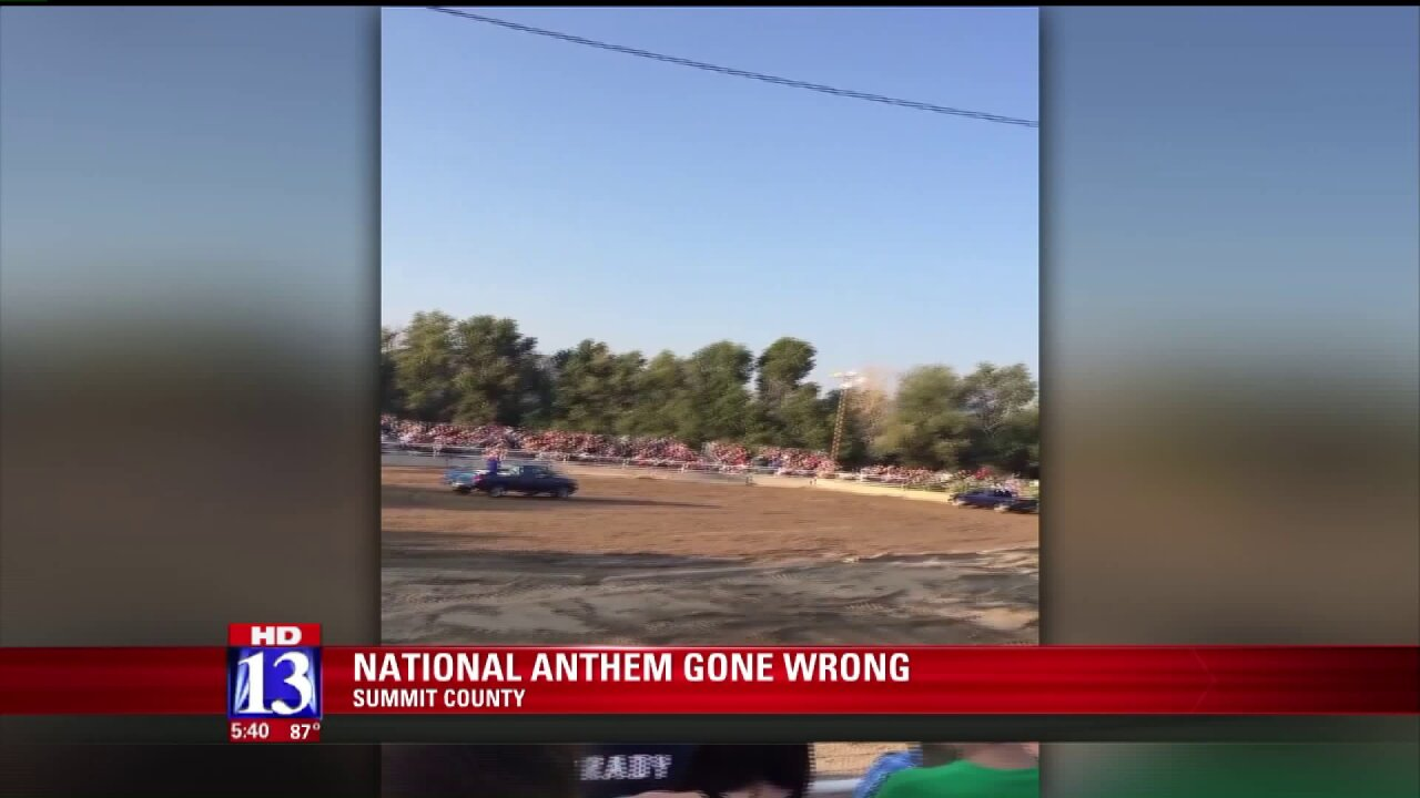 Summit County apologizes for 'Star-Spangled Banner' performance at demolition derby