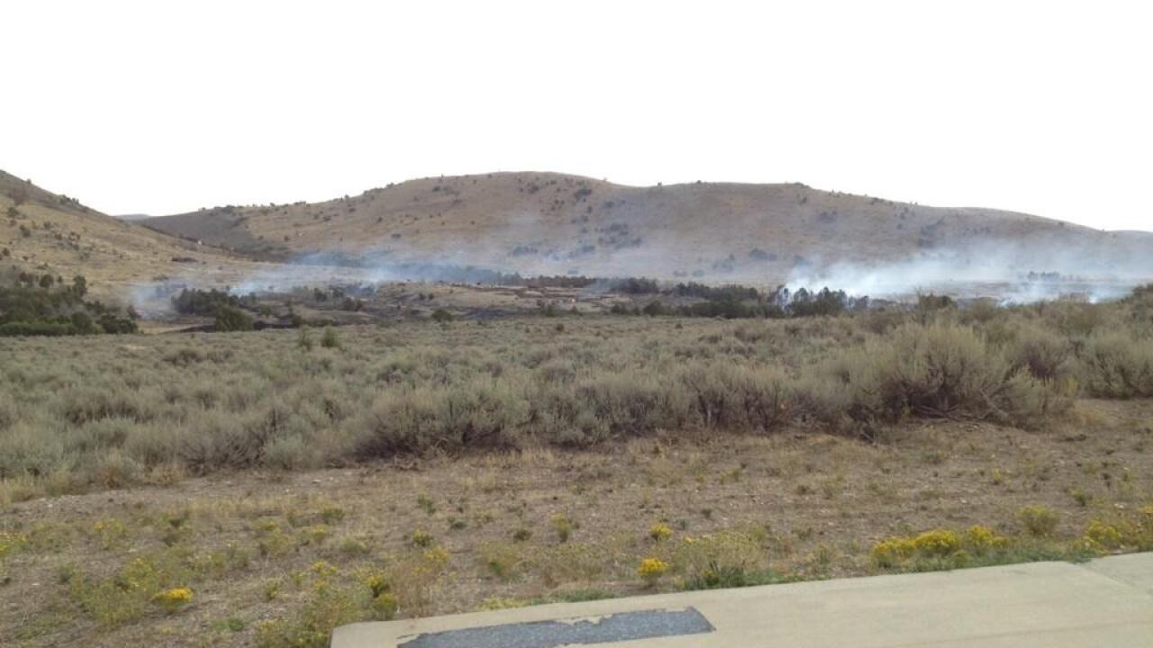 Rain helps put out Tooele County fire