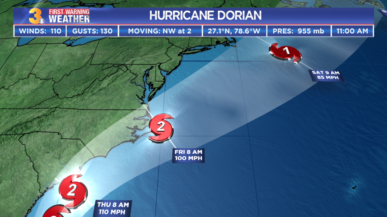 Cone of Uncertainty runs through Hampton Roads, but everyone could still see impacts from HurricaneDorian