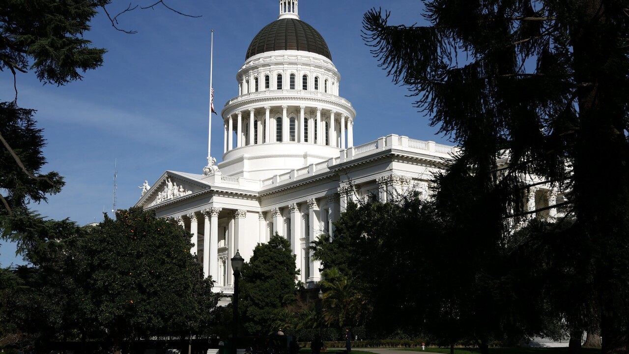A view of the California State Capitol in Sacramento, California
