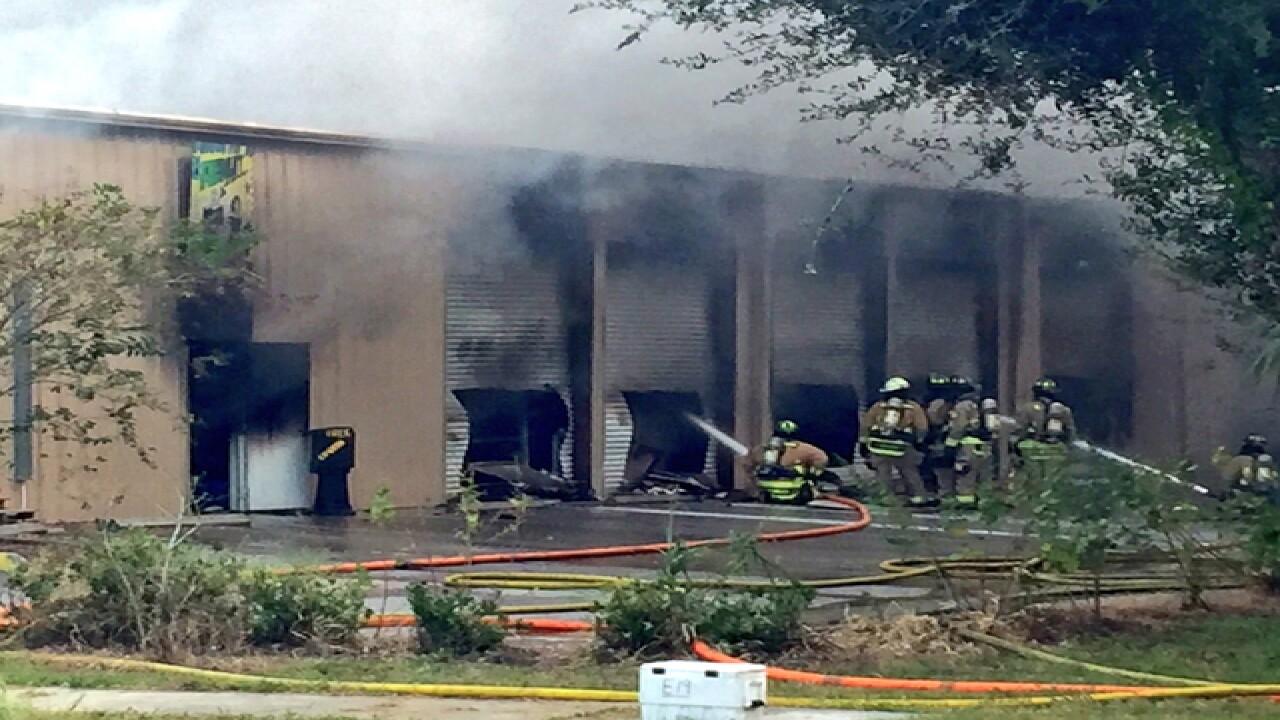Hillsborough firefighters battle warehouse fire